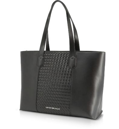 Street Style Plain Leather Totes