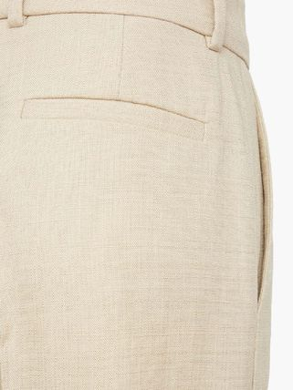 Casual Style Linen Plain Long Office Style Formal Style