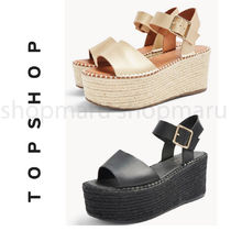 TOPSHOP Platform Casual Style Faux Fur Blended Fabrics Street Style