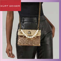 Kurt Geiger Casual Style Blended Fabrics 2WAY Chain Party Style