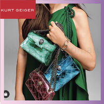 Kurt Geiger Casual Style Chain Party Style With Jewels Crossbody Logo