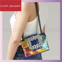 Kurt Geiger Casual Style Chain Other Animal Patterns Leather Party Style