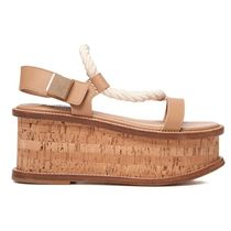 GABRIELA HEARST Platform Casual Style Leather Platform & Wedge Sandals