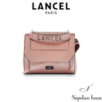 LANCEL Casual Style 2WAY Chain Plain Leather Party Style