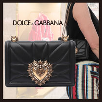 Dolce & Gabbana Casual Style Chain Plain Elegant Style Crossbody