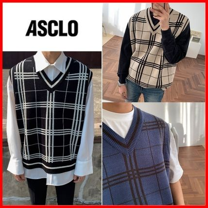 ASCLO Pullovers Other Plaid Patterns Unisex Vests & Gillets