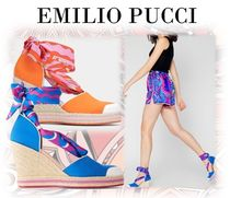 Emilio Pucci Plain Toe Casual Style Blended Fabrics Party Style