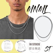 MNML Street Style Chain Plain Stainless Necklaces & Chokers