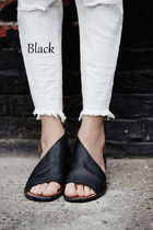Free People Open Toe Casual Style Plain Leather Elegant Style
