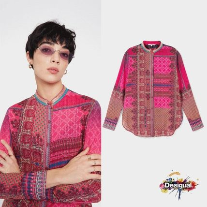 Flower Patterns Paisley Casual Style Long Sleeves Cotton