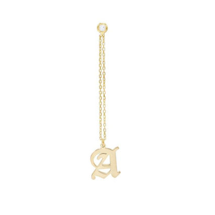 Casual Style Initial Silver Office Style Elegant Style Fine