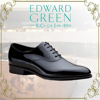 Plain Toe Enamel Leather Oxfords