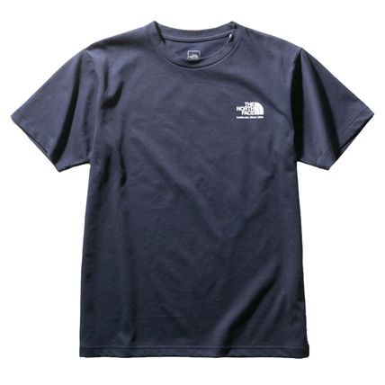 THE NORTH FACE Crew Neck Crew Neck Unisex Plain Short Sleeves Logo Outdoor 9