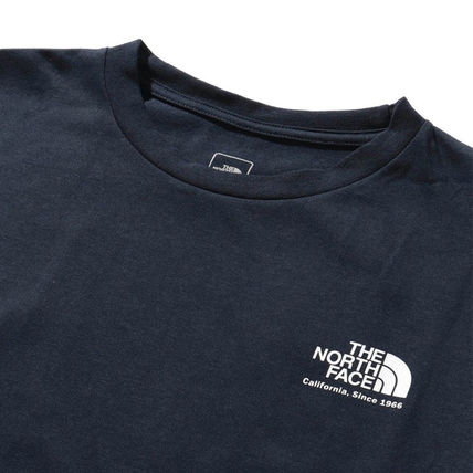 THE NORTH FACE Crew Neck Crew Neck Unisex Plain Short Sleeves Logo Outdoor 10