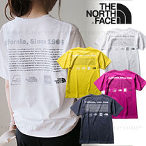 THE NORTH FACE Crew Neck Unisex Plain Short Sleeves Logo Outdoor
