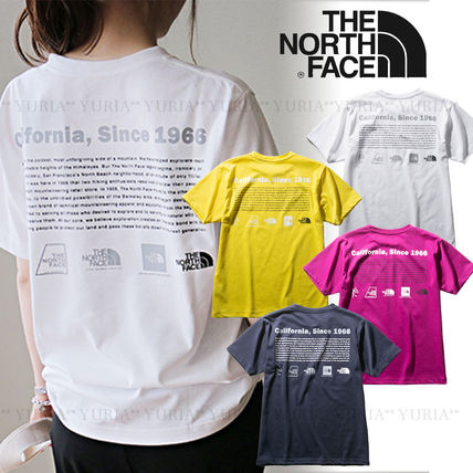 THE NORTH FACE Crew Neck Crew Neck Unisex Plain Short Sleeves Logo Outdoor