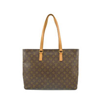 Louis Vuitton MONOGRAM Monogram Casual Style Street Style A4 Leather Office Style
