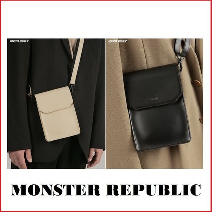 MONSTER REPUBLIC Totes Unisex Street Style Collaboration Plain Totes