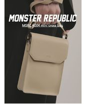 MONSTER REPUBLIC Totes Unisex Street Style Collaboration Plain Totes 8