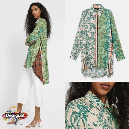 Flower Patterns Paisley Casual Style Long Sleeves Long