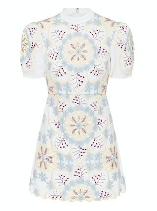 Short Flower Patterns Casual Style Linen Cotton Party Style
