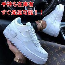 Nike AIR FORCE 1 Platform Casual Style Unisex Plain Platform & Wedge Sneakers