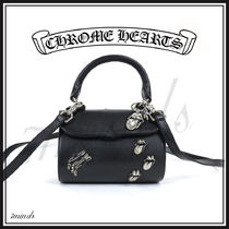 CHROME HEARTS Unisex Street Style Shoulder Bags