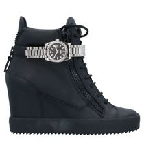 GIUSEPPE ZANOTTI Casual Style Leather Platform & Wedge Sneakers