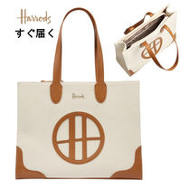Harrods Casual Style A4 Bi-color Office Style Elegant Style Logo