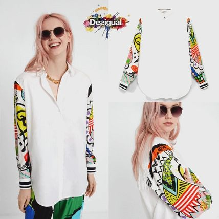 Stripes Heart Flower Patterns Casual Style Long Sleeves