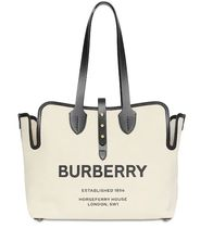 Burberry London Casual Style Calfskin Bag in Bag A4 2WAY Plain Leather