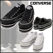 CONVERSE ALL STAR Casual Style Unisex Street Style Plain Chunky Heels Logo