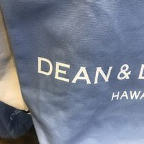 DEAN&DELUCA Casual Style Unisex Canvas A4 Plain Office Style Logo Totes