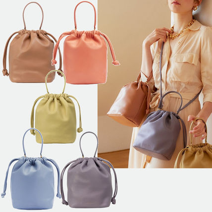 Casual Style 3WAY Plain Leather Elegant Style Shoulder Bags