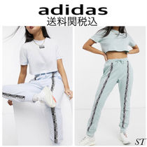 adidas Crew Neck Short Casual Style Sweat Street Style Long Sleeves