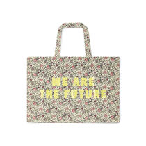 BONTON Flower Patterns Casual Style Collaboration Logo Totes