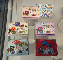 GUCCI Flower Patterns Leather Folding Wallet Small Wallet Logo