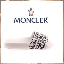 MONCLER Street Style Shower Shoes Logo Flat Sandals