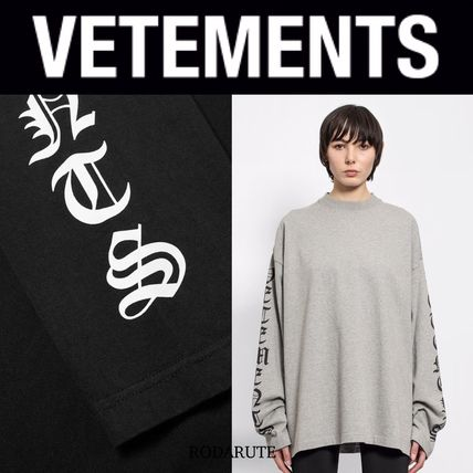 VETEMENTS More T-Shirts Street Style Logo T-Shirts 3
