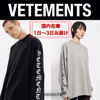 VETEMENTS More T-Shirts Street Style Logo T-Shirts