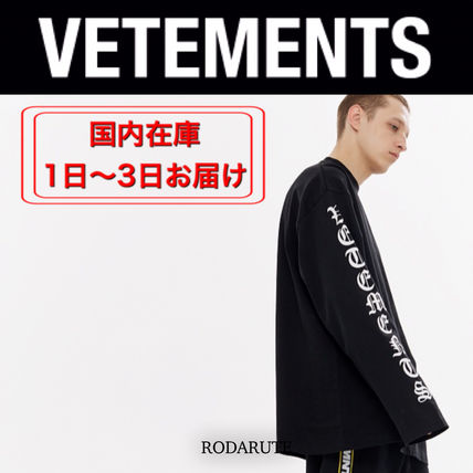 VETEMENTS More T-Shirts Street Style Logo T-Shirts 2