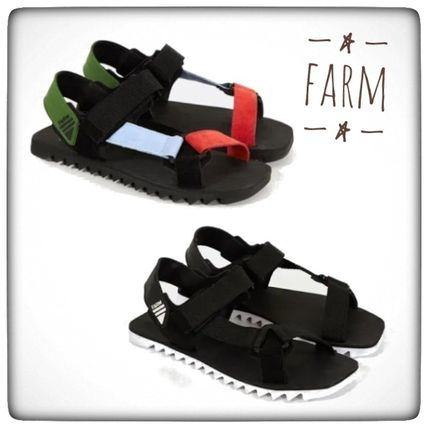 Open Toe Casual Style Unisex Sport Sandals Logo Flat Sandals