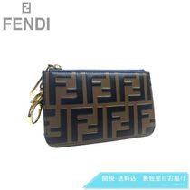 FENDI Leather Logo Coin Cases