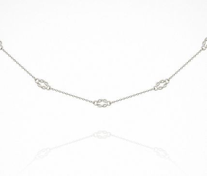 Casual Style Chain Handmade Party Style Silver Elegant Style