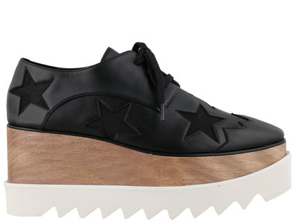 Stella McCartney ELYSE Star Platform Rubber Sole Lace-up Casual Style