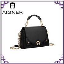 AIGNER Casual Style 2WAY Plain Leather Office Style Elegant Style