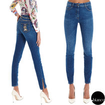 Moschino Denim Other Animal Patterns Cotton Long With Jewels