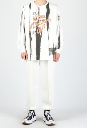 Street Style Collaboration Long Sleeves Cotton