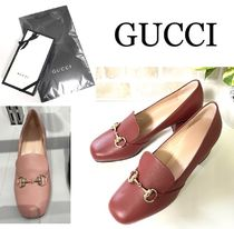 GUCCI Casual Style Leather Office Style Elegant Style