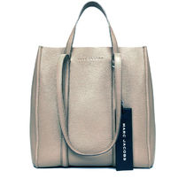 MARC JACOBS THE TAG TOTE Unisex A4 2WAY Plain Leather Office Style Totes